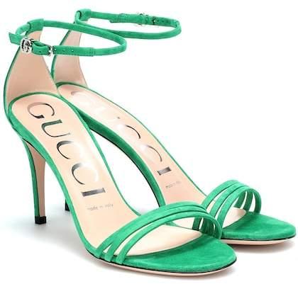 76eea2dcc09 Gucci Suede Women s Sandals - ShopStyle
