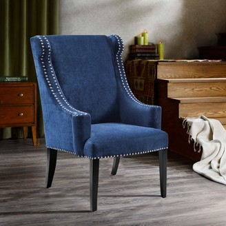Madison Home USA Lucy Blue High Back Wing Chair