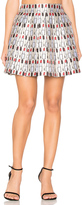 Alice + Olivia Fizer Pleat Mini Skirt