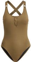 Polo Ralph Lauren Henley One-Piece Swimsuit