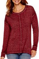 A.N.A a.n.a Long-Sleeve Burnout Sweatshirt