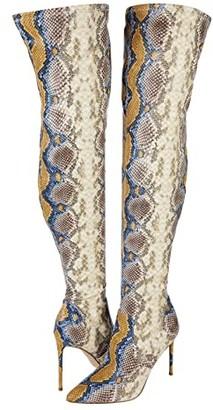 Steve Madden Viktory Over-the-Knee Boot (Black Patent) Women's Shoes