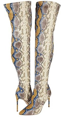 Steve Madden Viktory Over-the-Knee Boot (Multi Snake) Women's Shoes