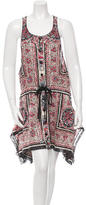 Anna Sui Patterned Drawstring Dress
