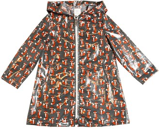 Sarah Jane Foxes Coated Cotton Rain Coat