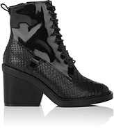 Robert Clergerie Women's Bono Leather Ankle Boots-BLACK