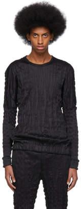 Issey Miyake Black Torus Melange T-Shirt