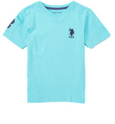 U.S. Polo Assn. Painters Aqua V-Neck Tee - Toddler & Boys