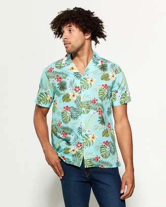 Altea Tropical Short Sleeve Sport Shirt
