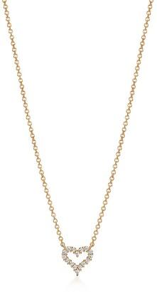 Tiffany & Co. Heart pendant in 18k gold with diamonds, extra mini