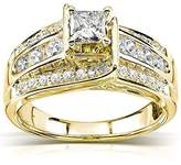 JeenJewels 1.00 Carat Discount Engagement Ring with Princess cut Diamond on 14K Yellow gold