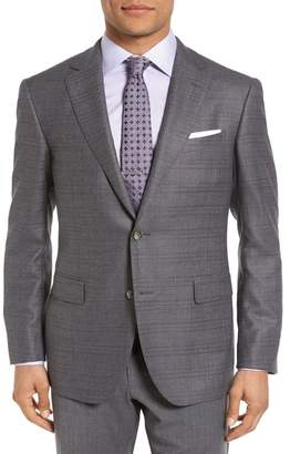 Pal Zileri Classic Fit Windowpane Wool Sport Coat