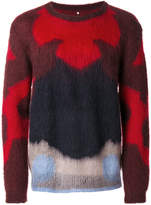 Oamc colour-block knitted sweater