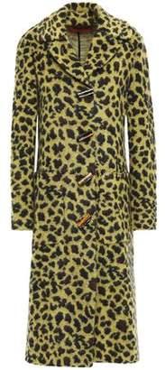 Missoni Leopard-print Jacquard-knit Coat