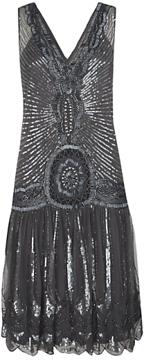Thumbnail for your product : Jigsaw Sequin Flapper Dress, Silver Grey
