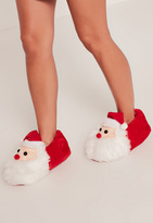Missguided Red Santa Booties Slipper