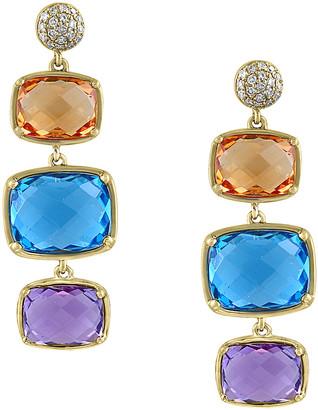 Effy Fine Jewelry 14K 14.62 Ct. Tw. Diamond & Gemstone Drop Earrings
