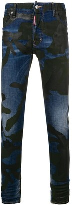 DSQUARED2 camouflage Skater jeans