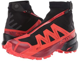 Salomon Snowspike CSWP (Black/Racing Red/Red Dahlia) Running Shoes