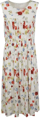Ermanno Scervino Sleeveless Pleated Floral Dress