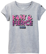 Puma Fast & Fierce Graphic Tee (Little Girls)