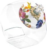 Mackenzie Childs MacKenzie-Childs - Cookie Jar with Flower Market Enamel Lid - White