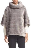 Kate Spade Women's Faux Mink Fur Cape