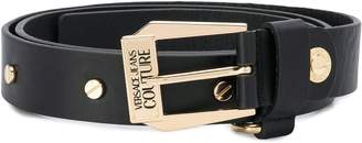 Versace engraved logo buckle belt