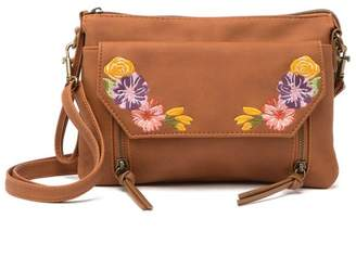 T-Shirt & Jeans Maven Embroidered Floral Crossbody Bag