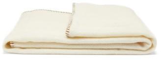 Tekla - Whipstitched Medium Virgin-wool Blanket - Ivory Multi