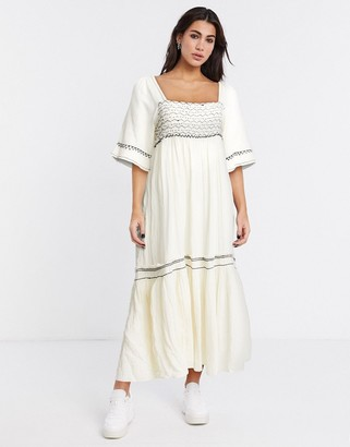 Free People I'm the one maxi dress in Ivory