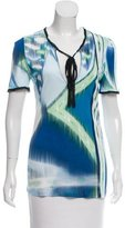 Emilio Pucci Silk-Trimmed Printed T-Shirt