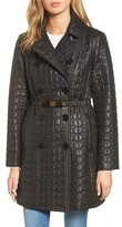 Kate Spade Women's Bow Belt Double-Breasted Quilted Jacket