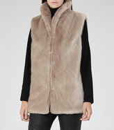 Reiss Meyer Faux Fur Gilet