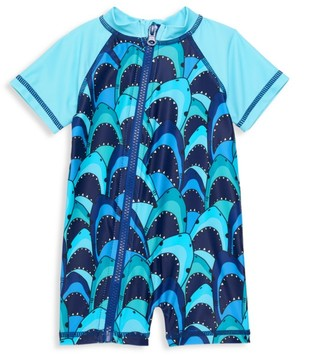 Andy & Evan Baby Boy's Shark Swim Romper