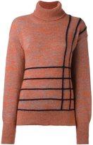 Marco De Vincenzo stripe detail jumper - women - Polyester/Angora/Mohair/Wool - 40