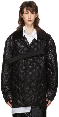 Maison Margiela Black Quilted Glossy Nylon Jacket