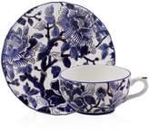 Gien Piviones Bleu Tea Cup & Saucer