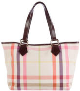 Burberry Canvas Check Tote