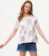 LOFT Bouquet Toss Short Sleeve Sweater