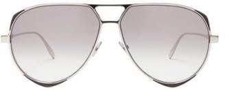 Alexander McQueen Aviator Metal Sunglasses - Mens - Silver