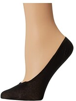 Wolford Cotton Footsies Sock (Black) Women's No Show Socks Shoes