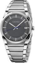 Calvin Klein Men's Swiss Step Stainless Steel Bracelet Watch 38mm K6K31143