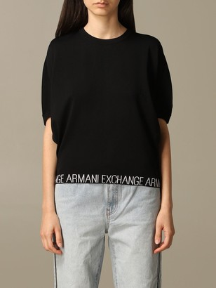 Armani Collezioni Armani Exchange Sweater Armani Exchange Top With Logo