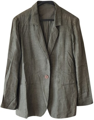 Mariella Rosati Green Linen Jacket for Women