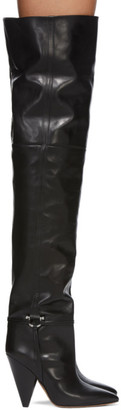 Isabel Marant Black Leather Lage Tall Boots