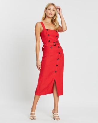 Carmen Belted Midi Dress