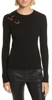 A.L.C. Women's Terence Lace Inset Sweater