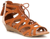 Minnetonka Merida 3 Suede Lace-Up Gladiator Sandals