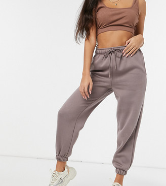 Topshop Petite joggers in mink